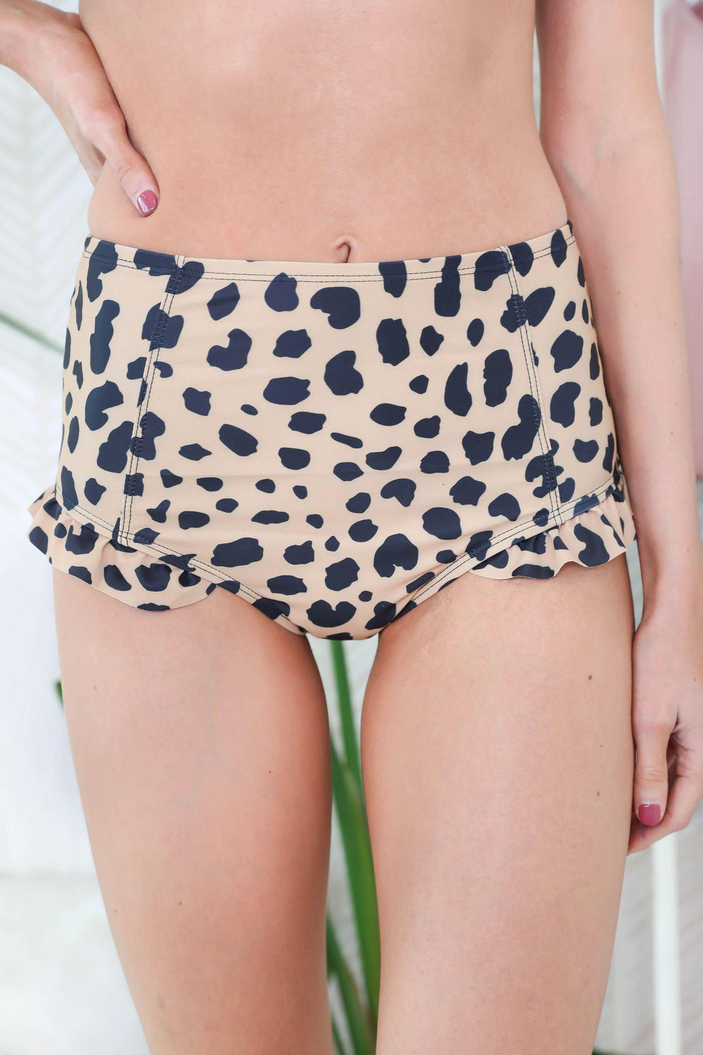 Drinks by the Ocean Animal Print Swimsuit Bottoms