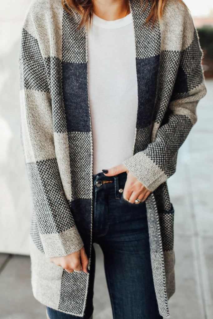 Winter Storm Plaid Cardigan Inspired By Ashley from Twenties Girl Style