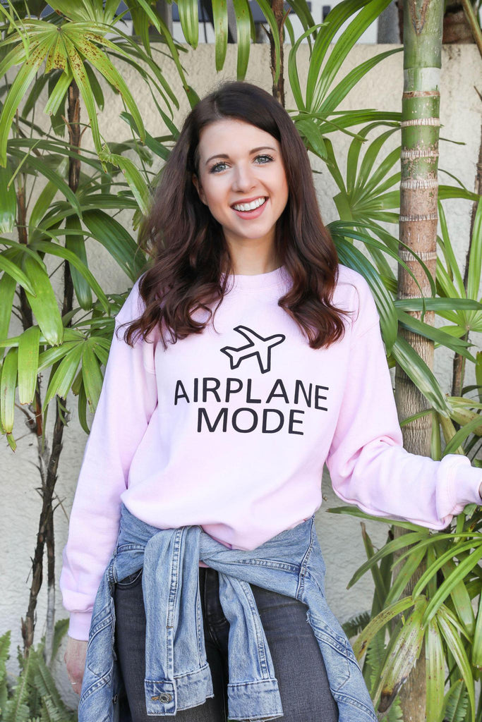 Airplane Mode Pink Graphic Sweatshirt