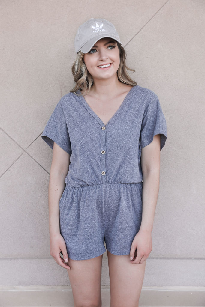 Afternoon Drives Heather Grey Romper