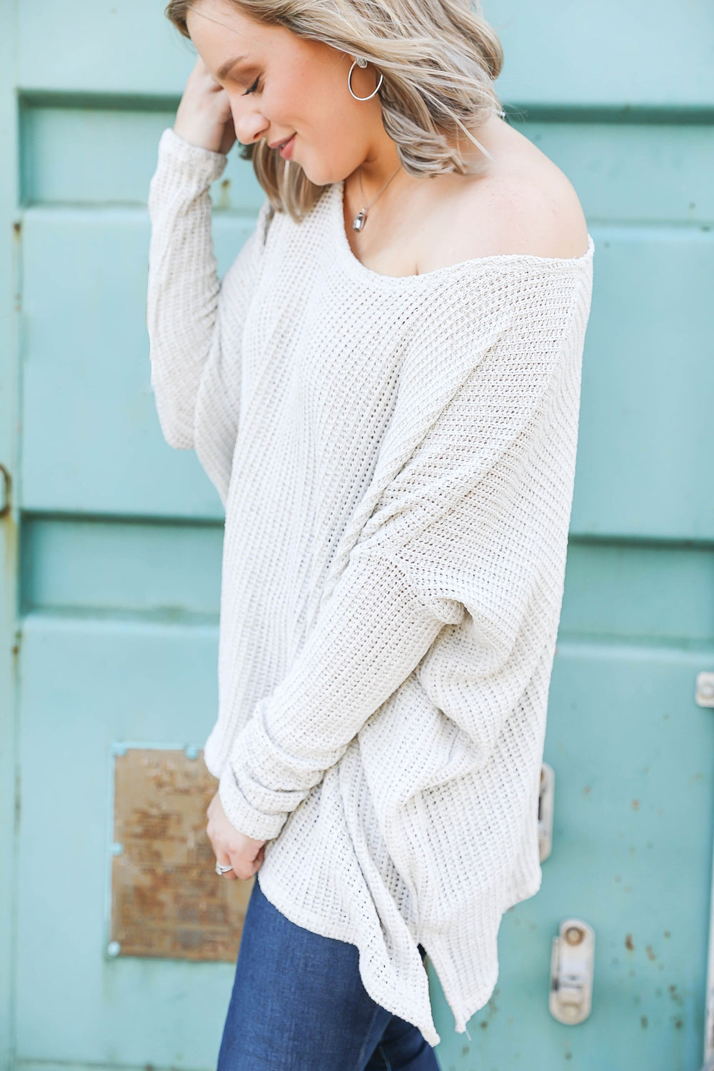 Afternoon Drinks Slouchy Sweater Inspired by Kendra Raymer x Kendra Scott