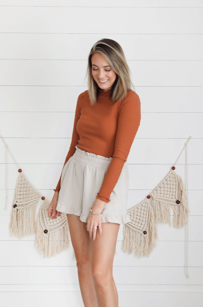 Back to You Orange Ruffle Top