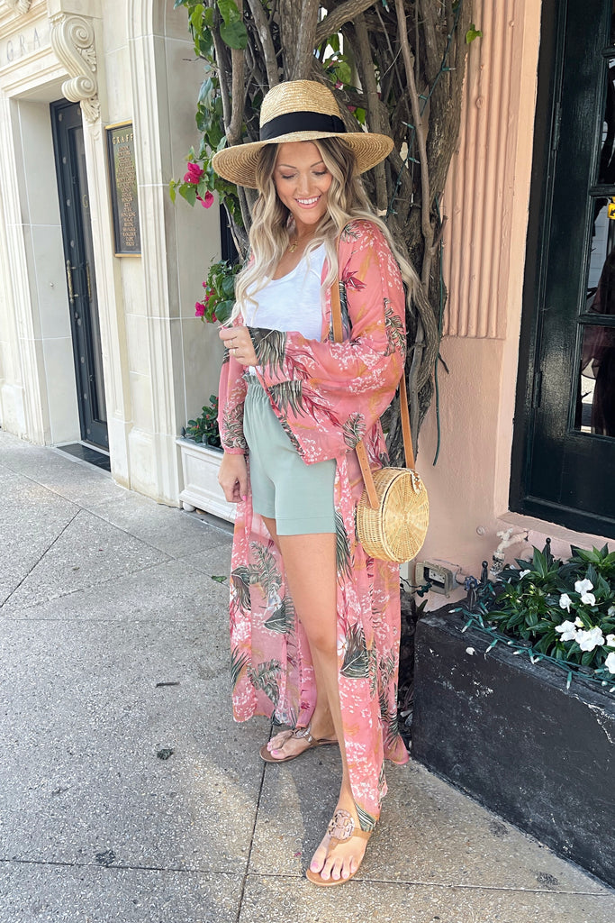 Beach Palm Coral Kimono Inspired by Liz | The Palm Beach Collection