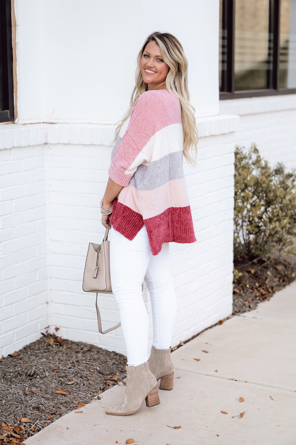 Berry Cozy Sweater Inspired by Liz from Lattes with Liz