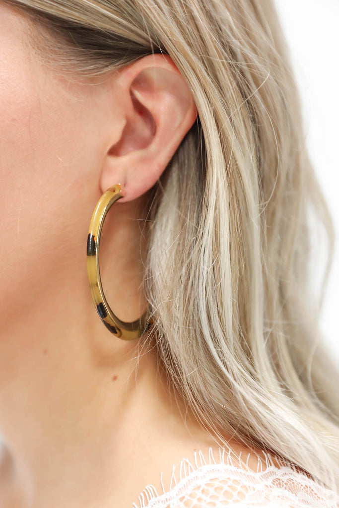Best Shot Tortoise Shell Open Hoops