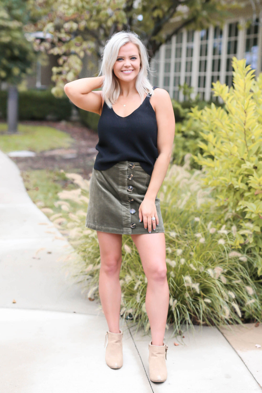 "Black Cropped Knit Top ""Inspired by Shanna Hutcheson"""