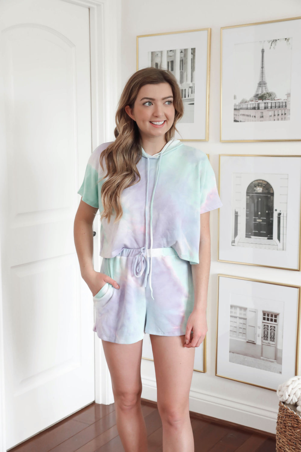 Blue and Lilac Tie Dye Set