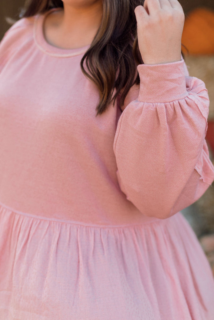 Blush Peplum Top Inspired by Kelsey Gross