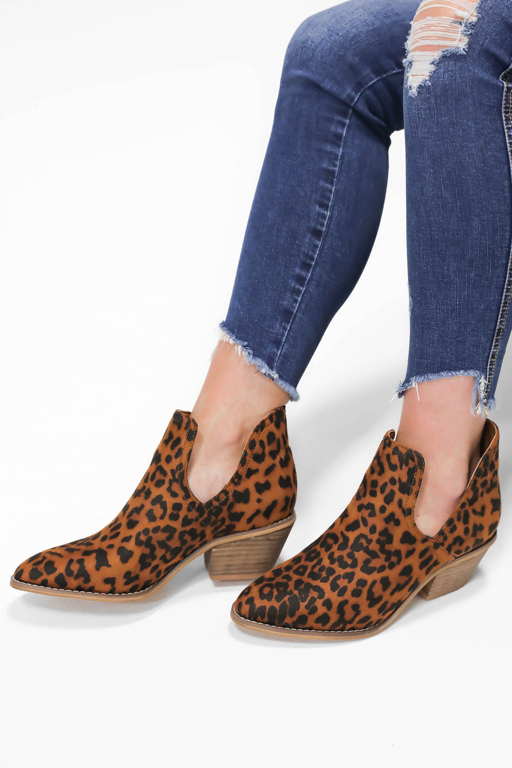 "Born to be Wild Leopard Booties ""Inspired by Hannah Vance"""