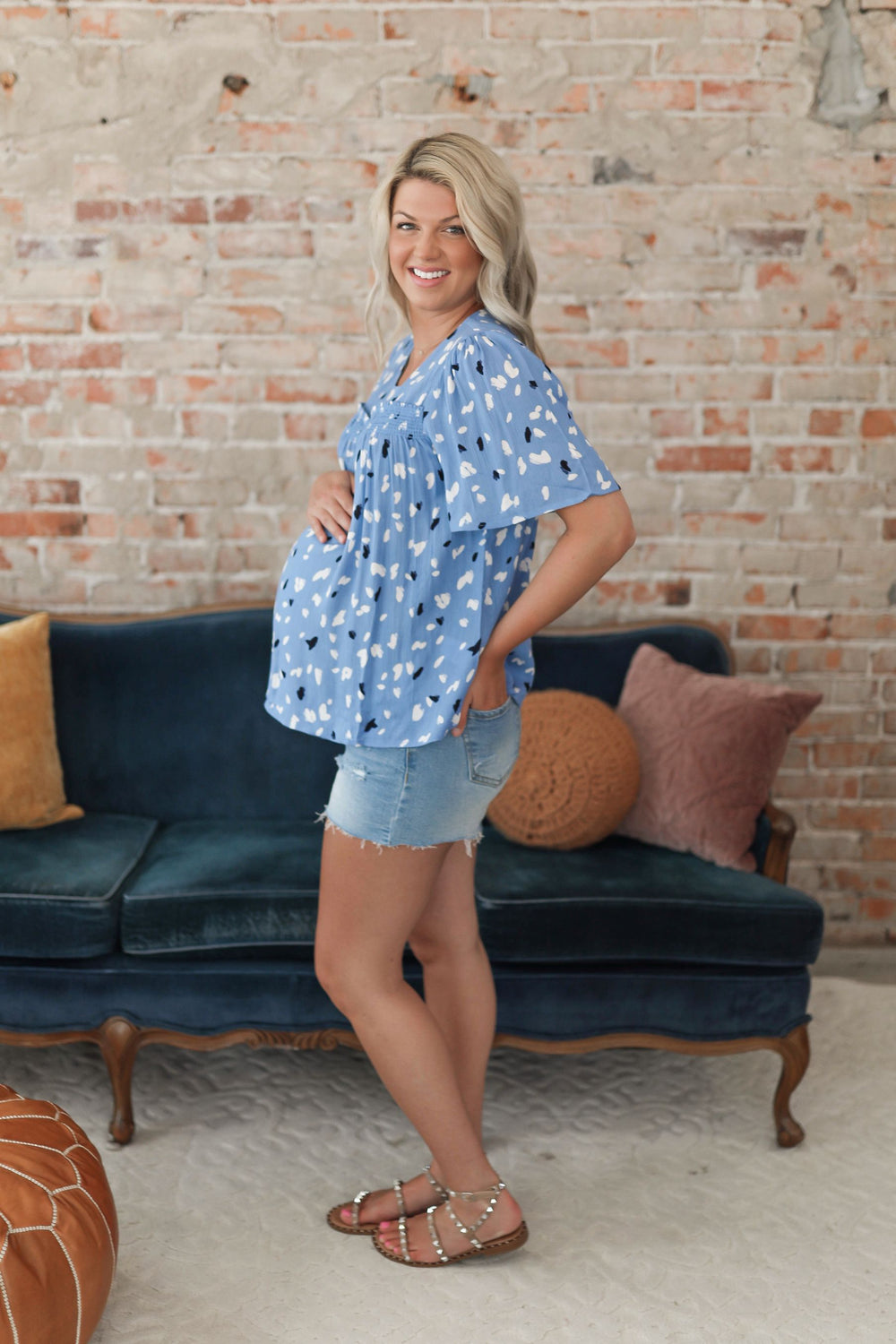 Bright Futures Blue Babydoll Top Inspired by Shelby Ditch