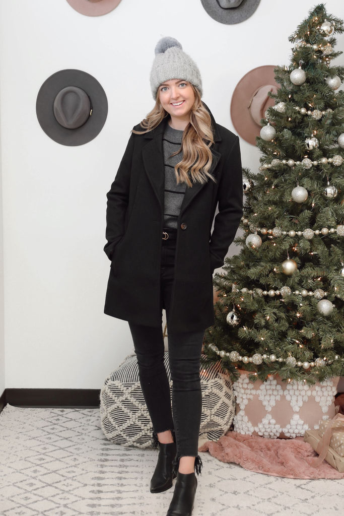 Brittany Blazer Coat - Black