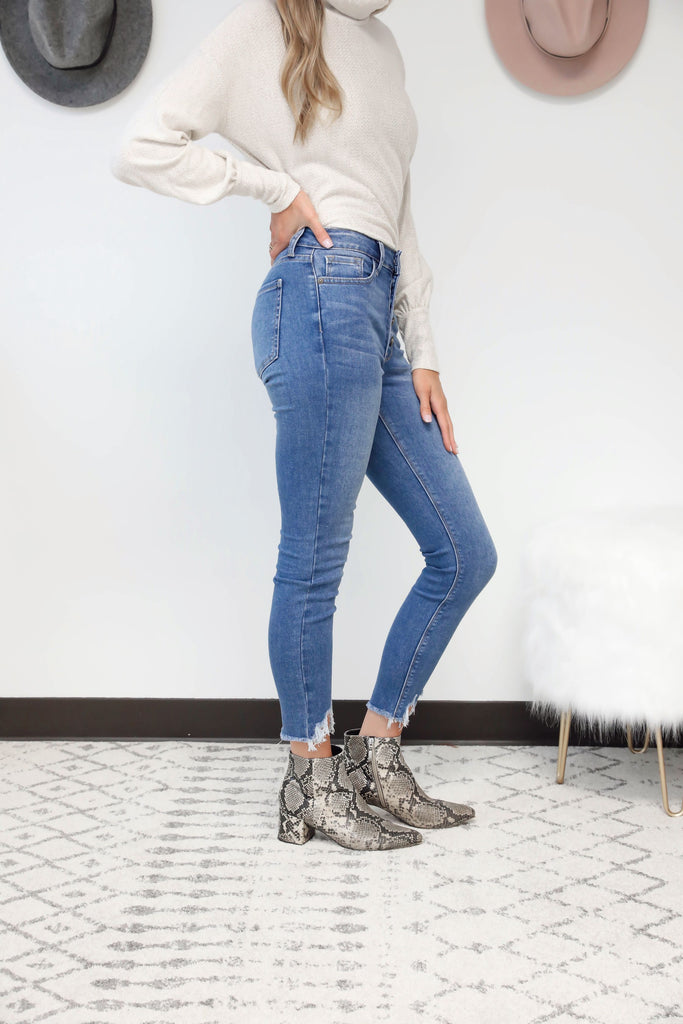 RESTOCK Caitlin Medium Wash High Waisted Jeans