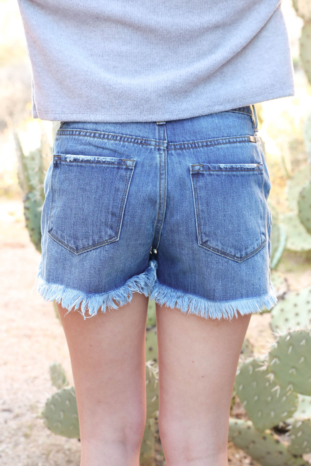 California Dream Distressed Denim Shorts