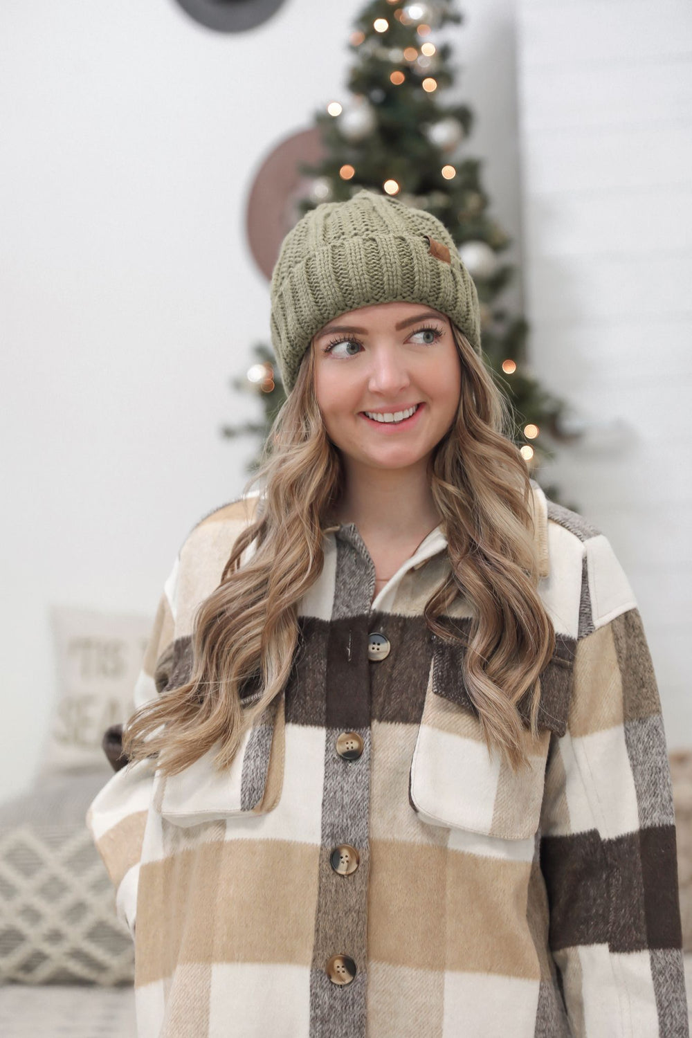 Camp Out Beanie - Olive