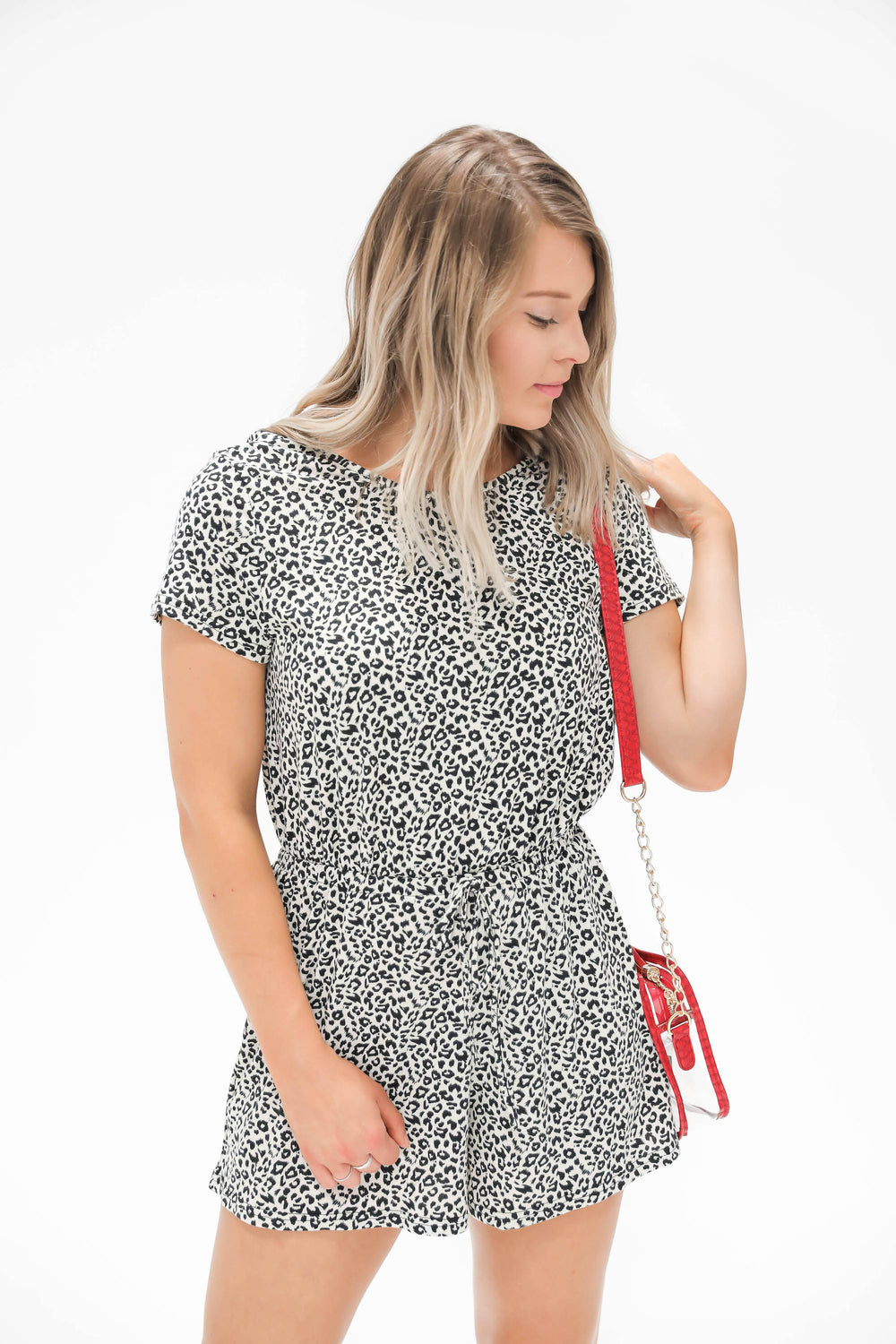 Catching Your Eye  Open Back Leopard Romper