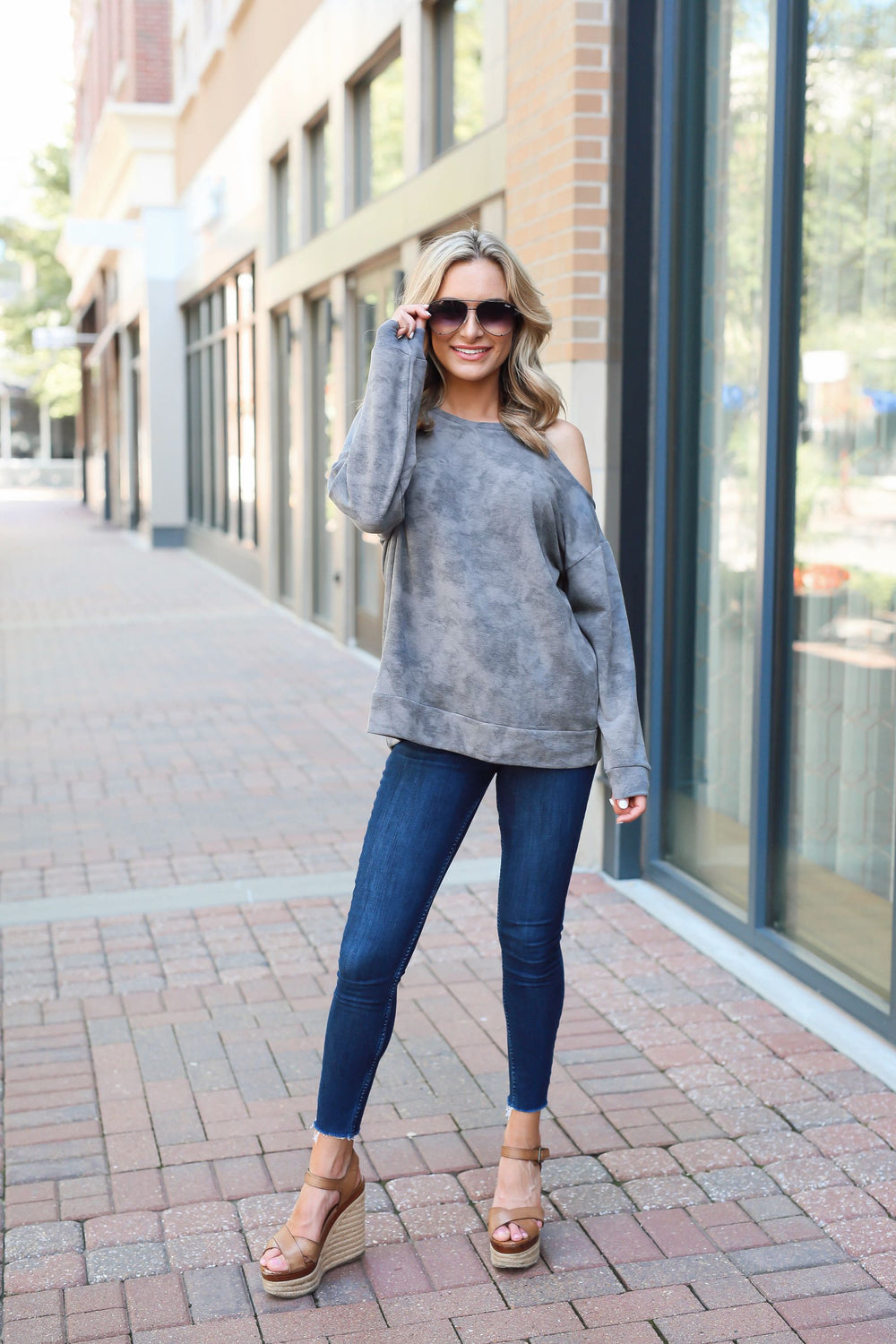 Charcoal Acid Wash Sweatshirt