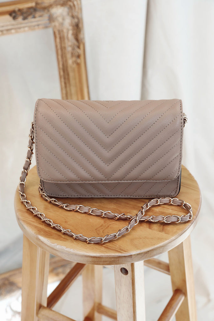 Chevron Stitched Luxe Bag