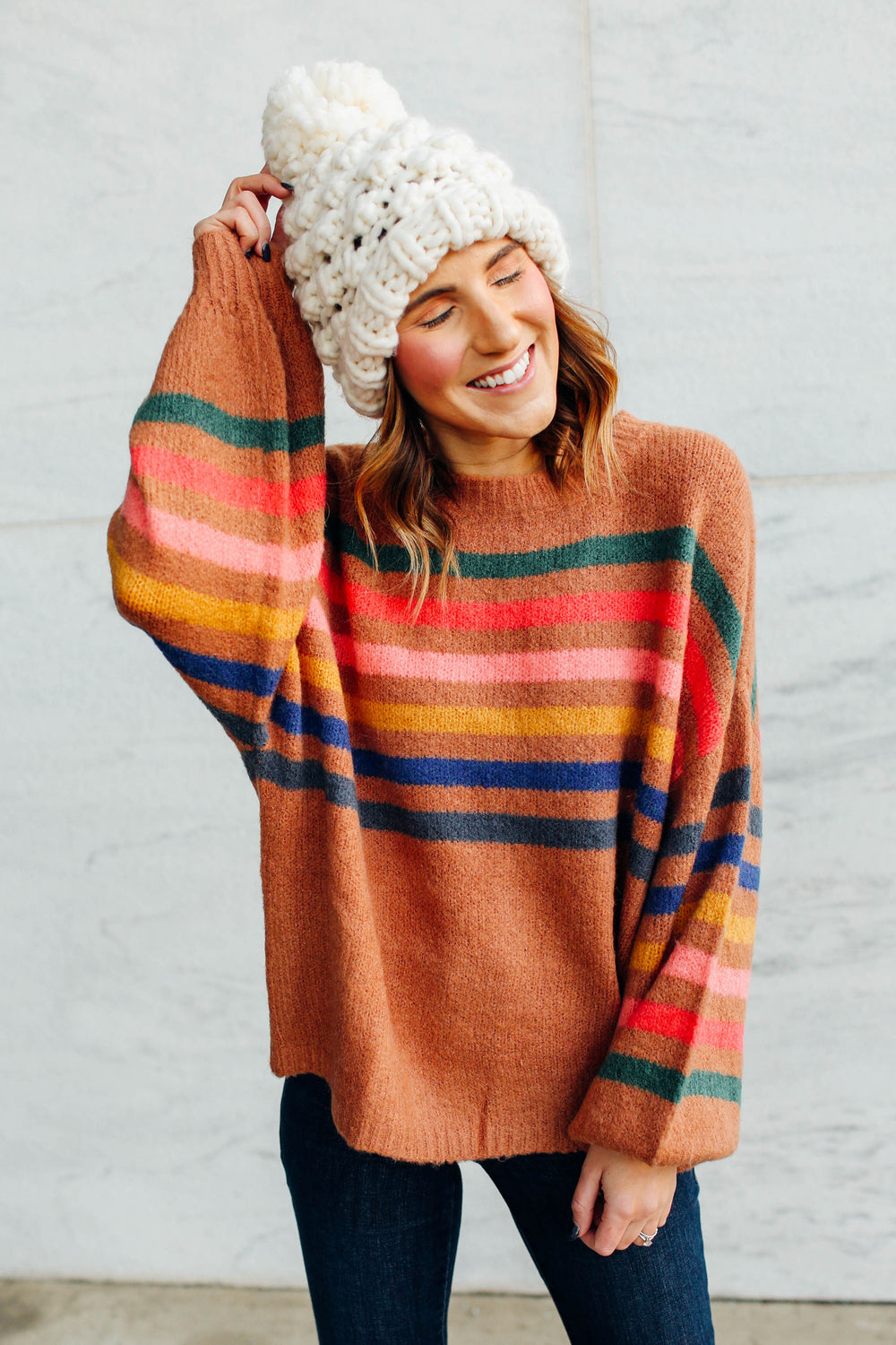 Color Me Striped Sweater Inspired By Ashley from Twenties Girl Style