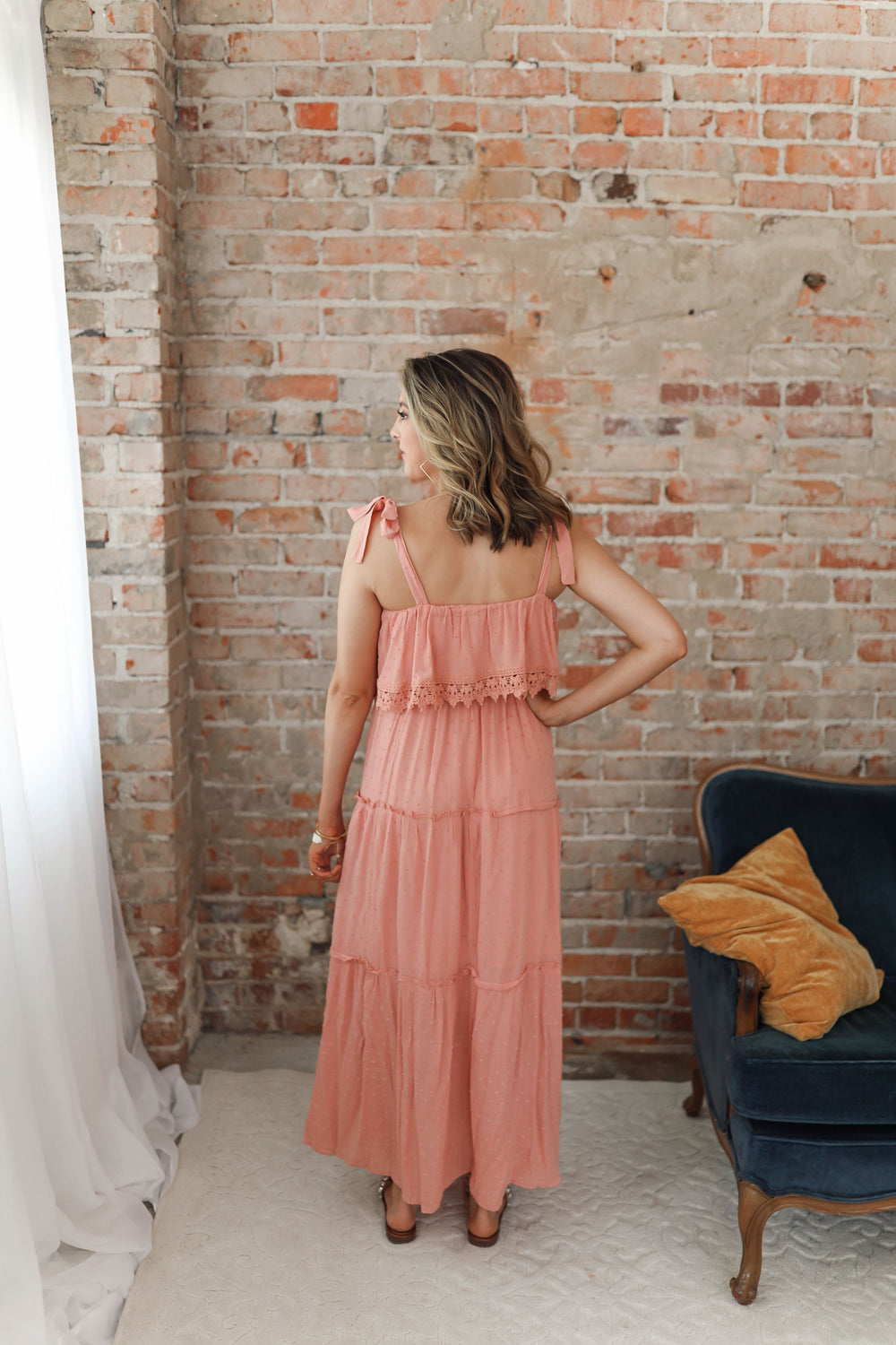 Coral Bounce Maxi Dress Inspired by Shelby Ditch