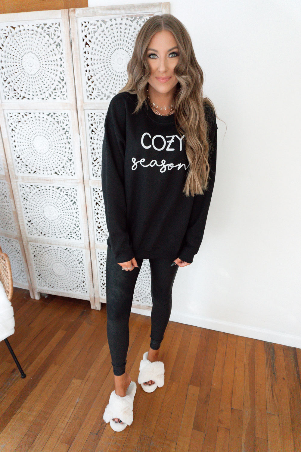 Cozy Season Crewneck Inspired by Makenna Christine