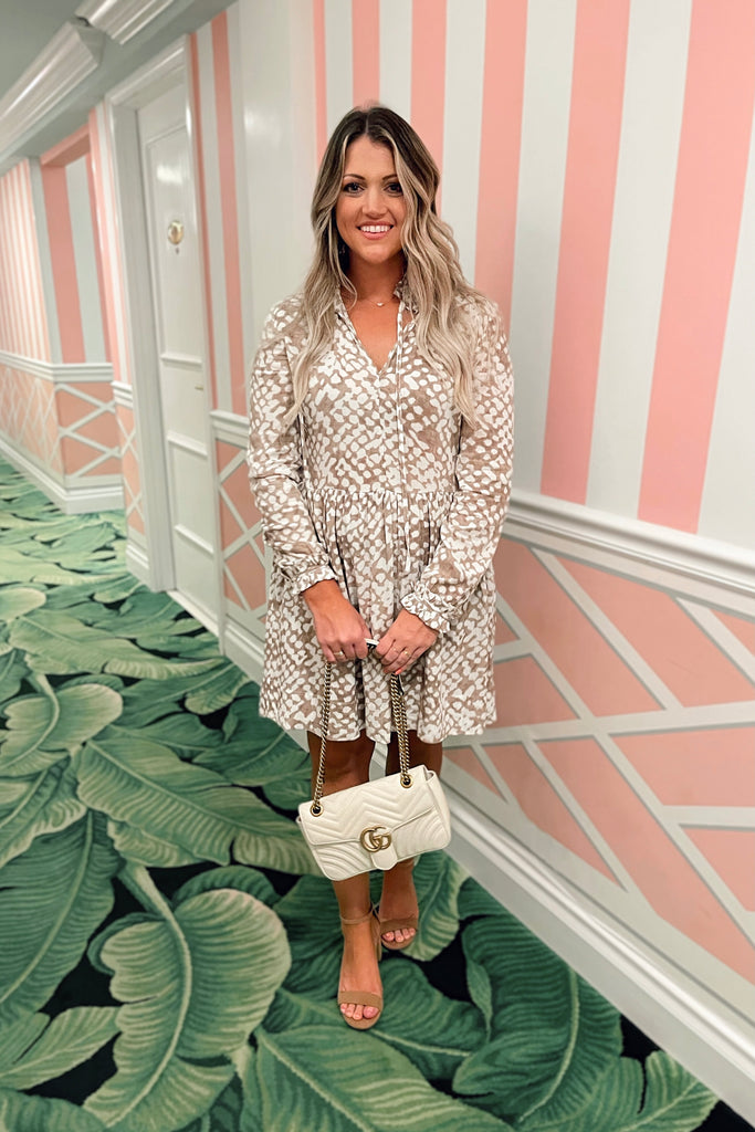 Cream Honeycomb Dress Inspired by Lauren | The Palm Beach Collection