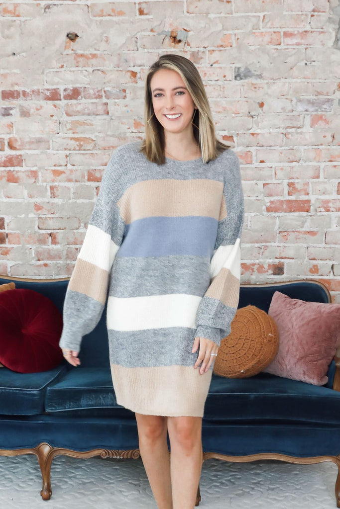 Delaney Color Block Sweater Dress