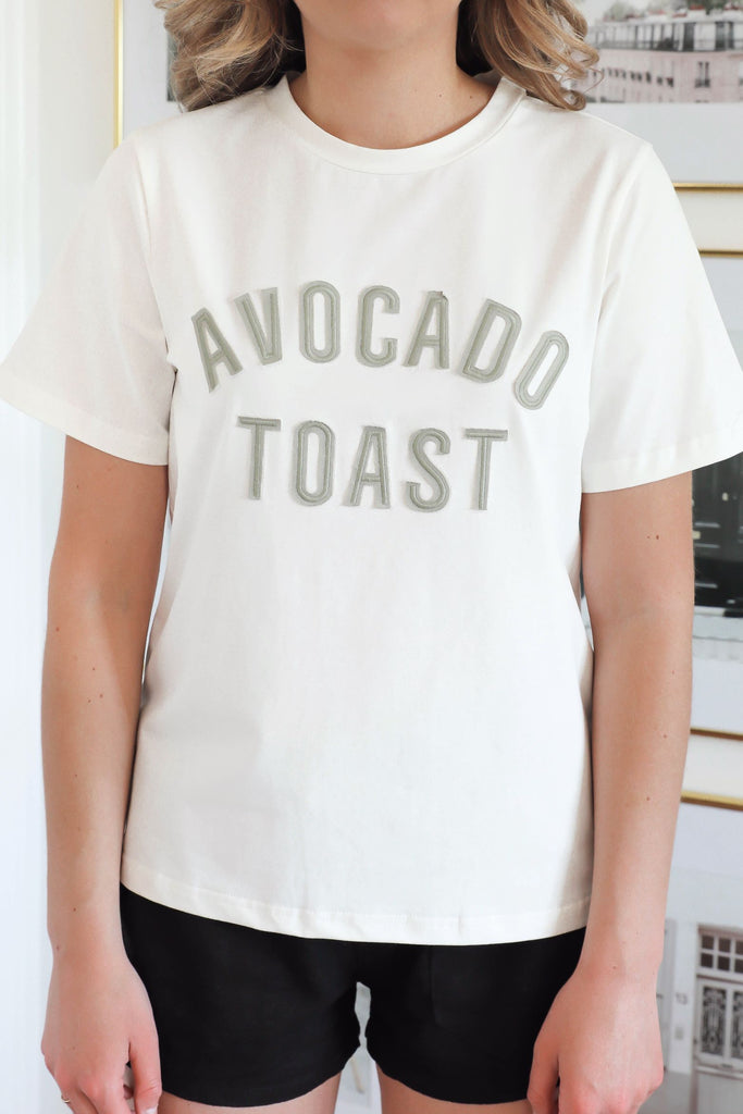 Avocado Toast Embroidered Tee