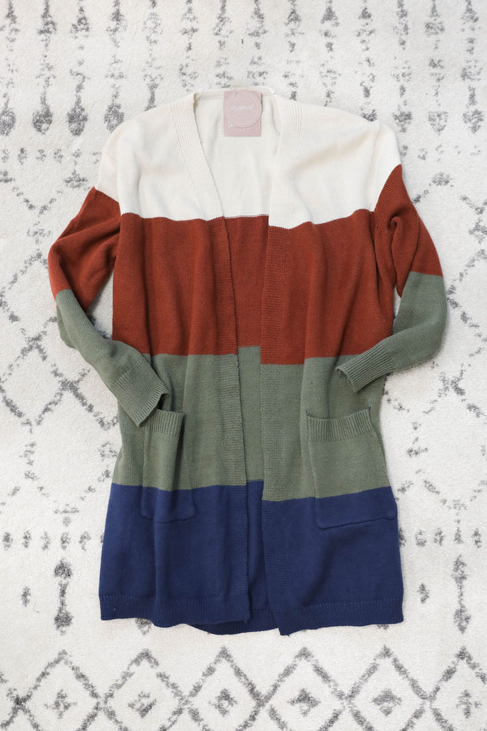 EXCLUSIVE SALE Cool Vibes Color Block Cardigan