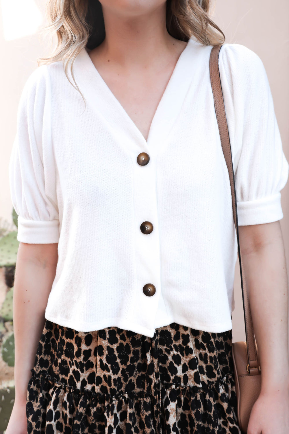 Escape with Me Buttoned Blouse - White