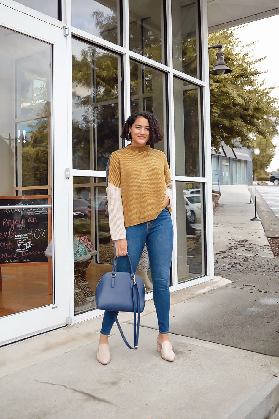 Fall Favorite Color Block Sweater Inspired by Amanda Johnson