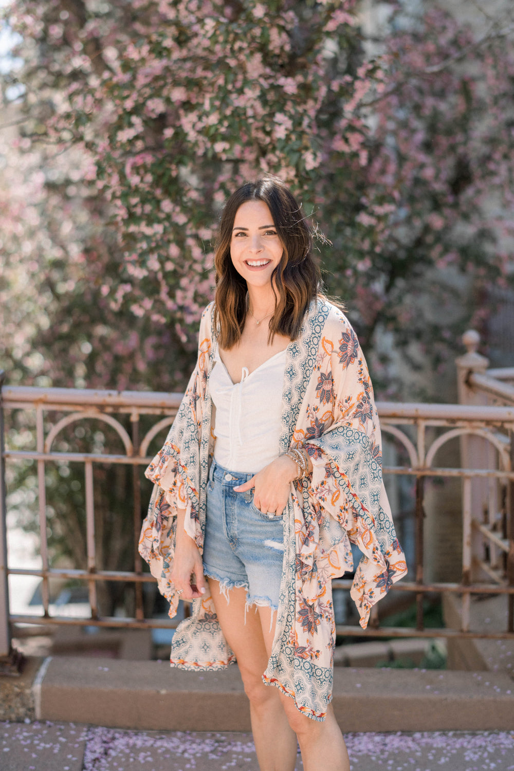Floral Kimono Duster Inspired by Taylor Brown