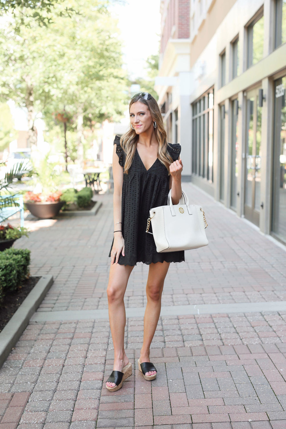 Girls Night Out Eyelet Dress