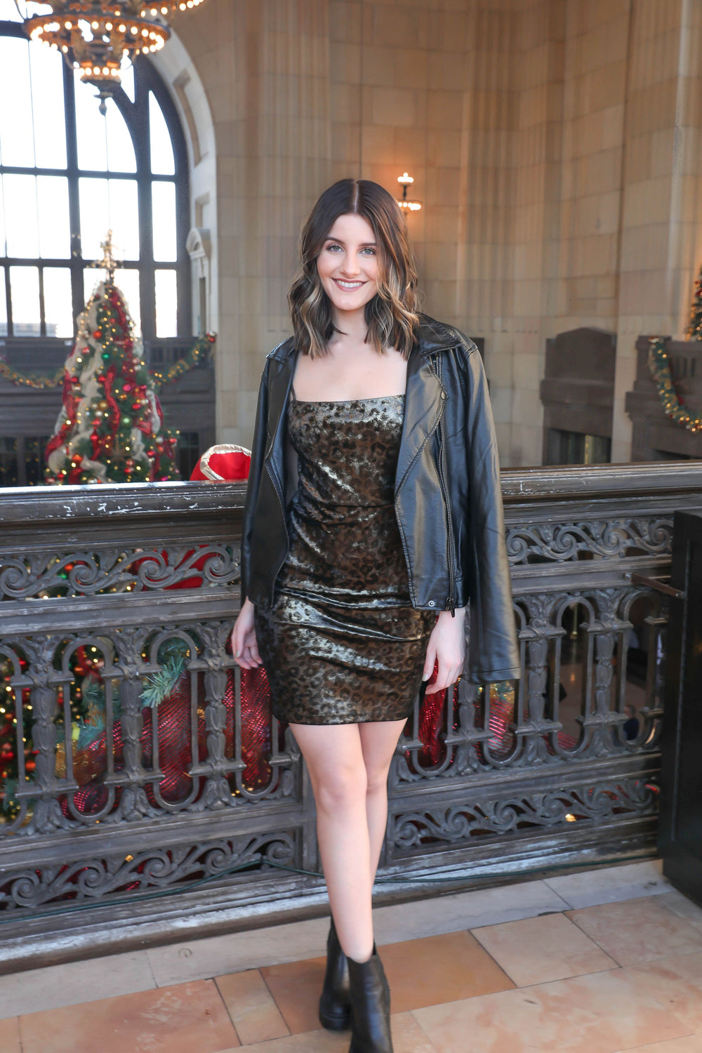 Go for the Gold Velvet Dress