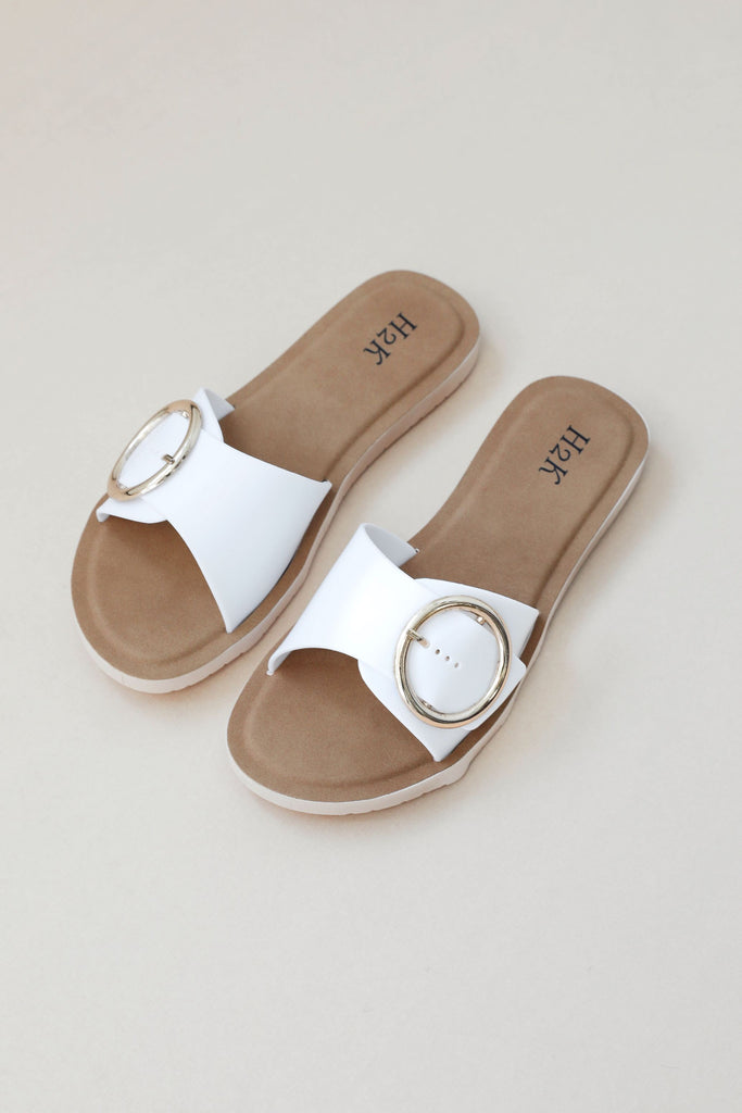 Gold Ring Slip on Slides