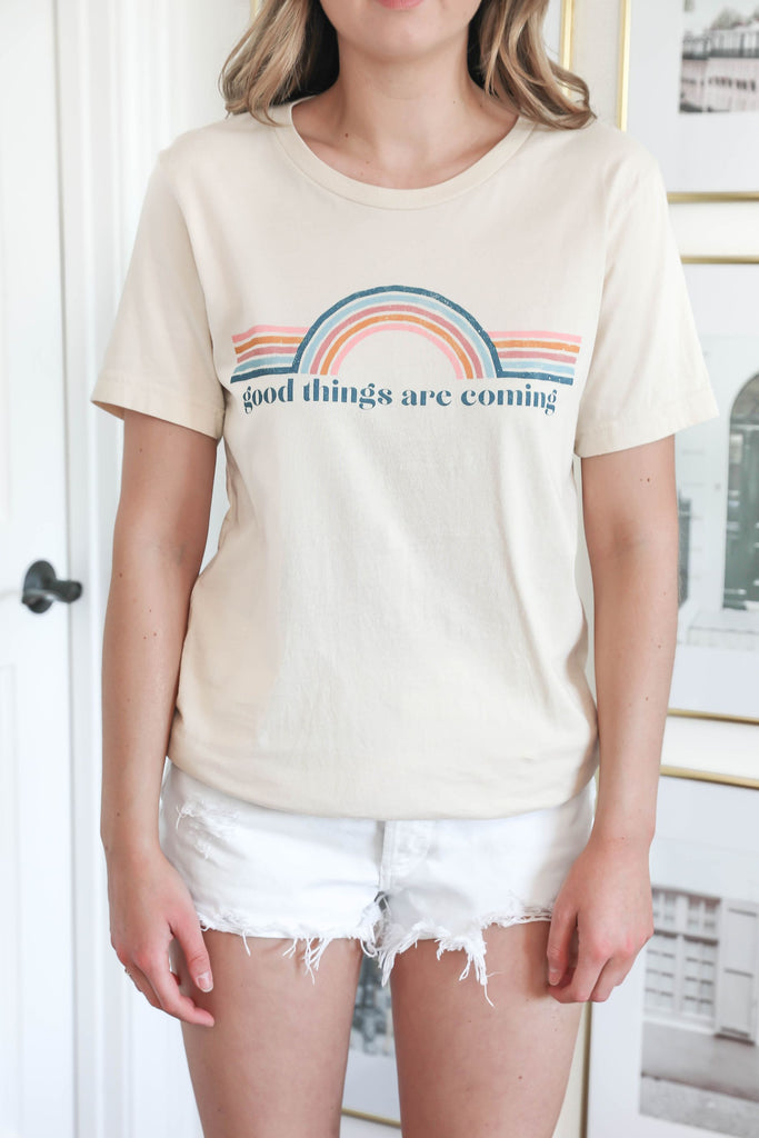 Good Things are Coming Rainbow T-Shirt