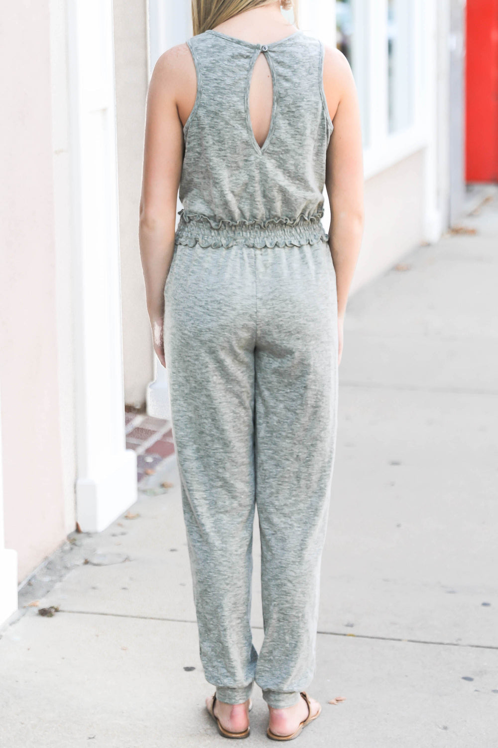 Gotcha Jumpsuit in Grey