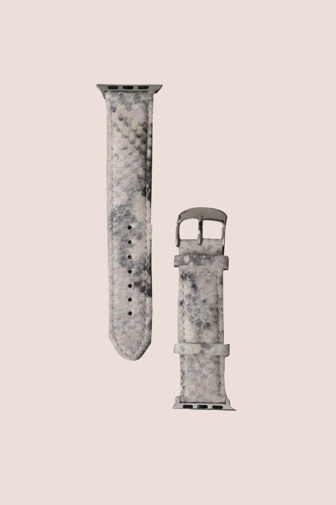 Gray Snake Faux Fur Apple Watch Band