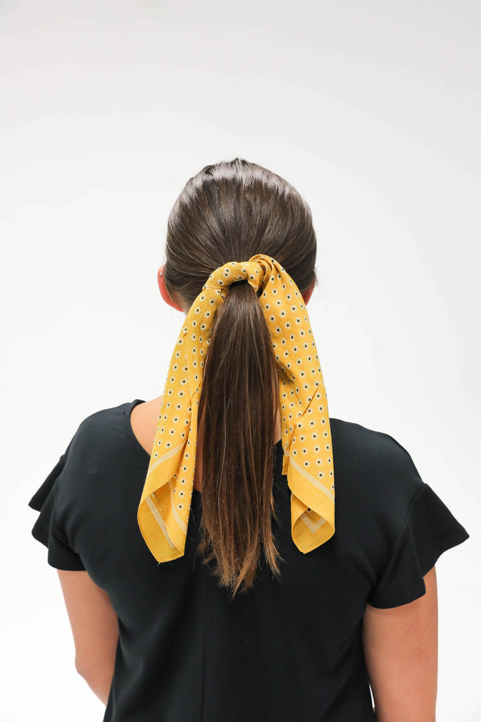 Happy With You Hair Scarf Yellow