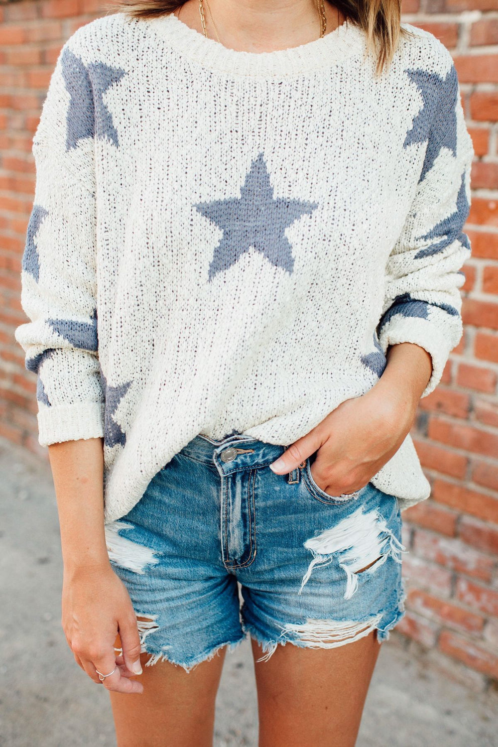 Indigo Star Sweater Inspired by Ashley from Twenties Girl Style