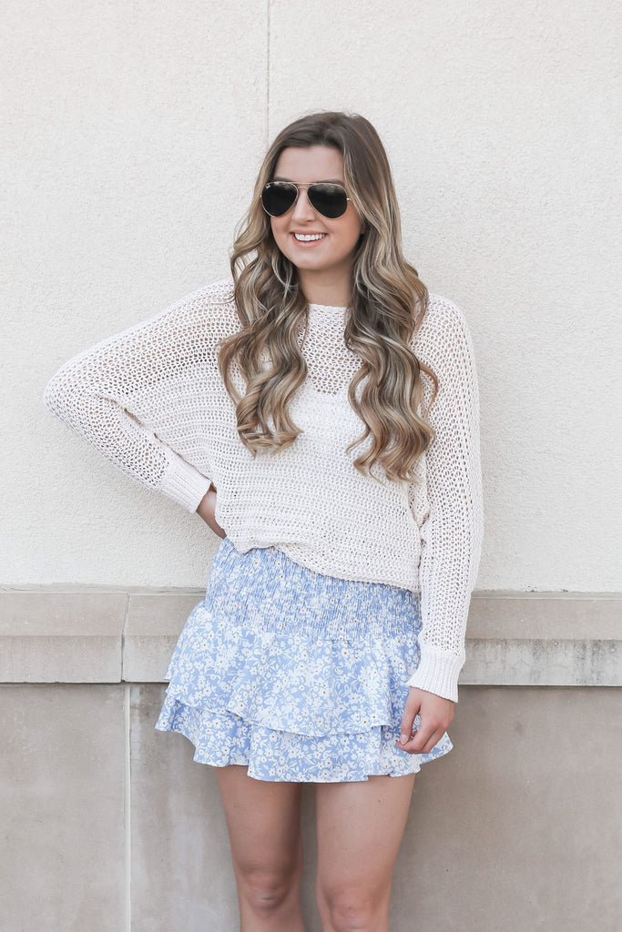 Irreplaceable Ivory Crochet Sweater