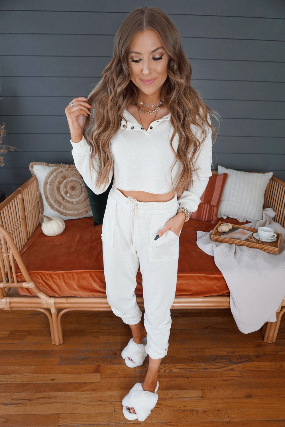 Ivory Stone Lounge Pants Inspired by Makenna Christine
