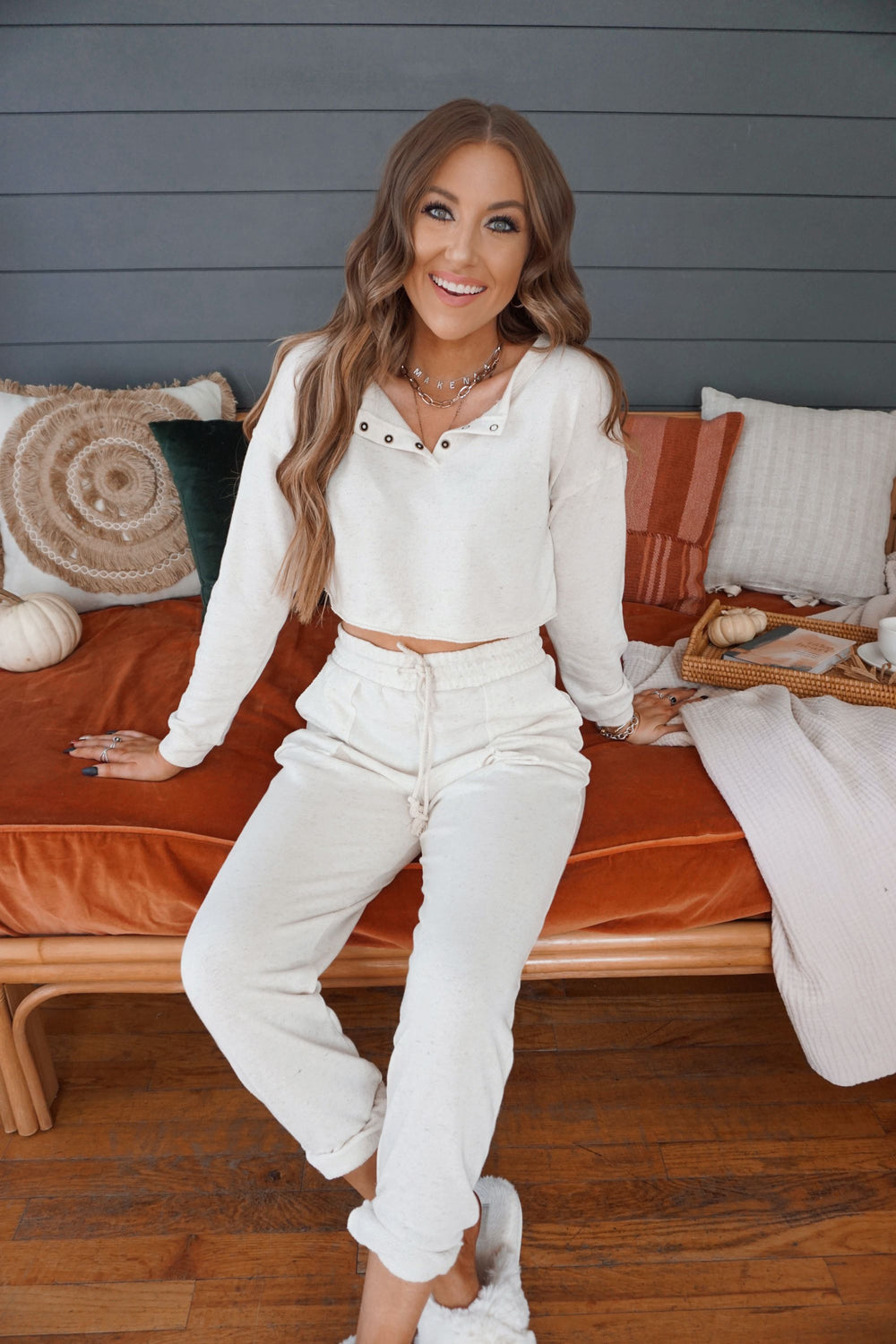 Ivory Stone Lounge Top Inspired by Makenna Christine