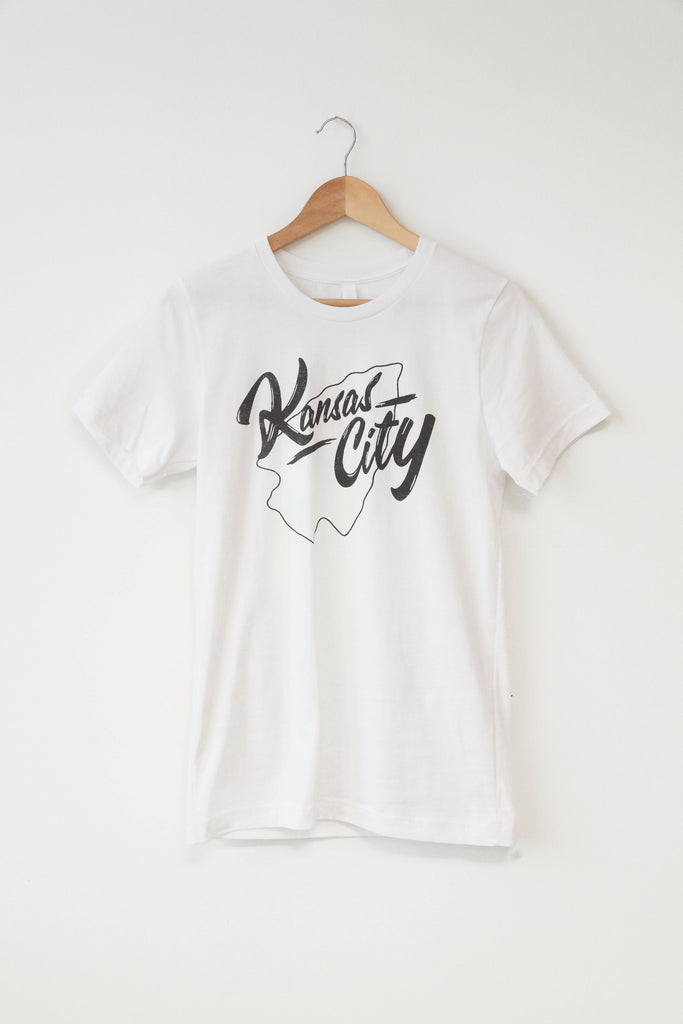 Kansas City Arrowhead  Tee - White