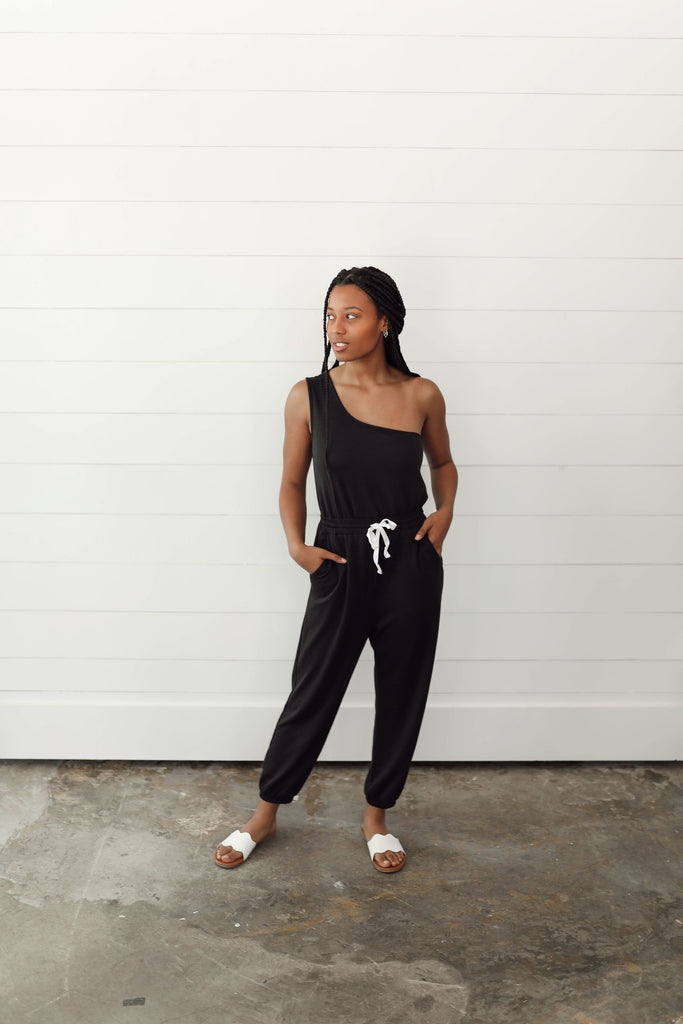 Keep it Casual One Shoulder Jumpsuit