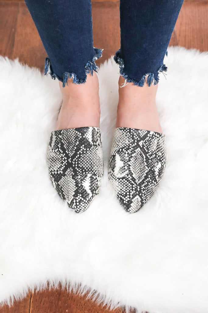 Life is My Runway Snake Mules
