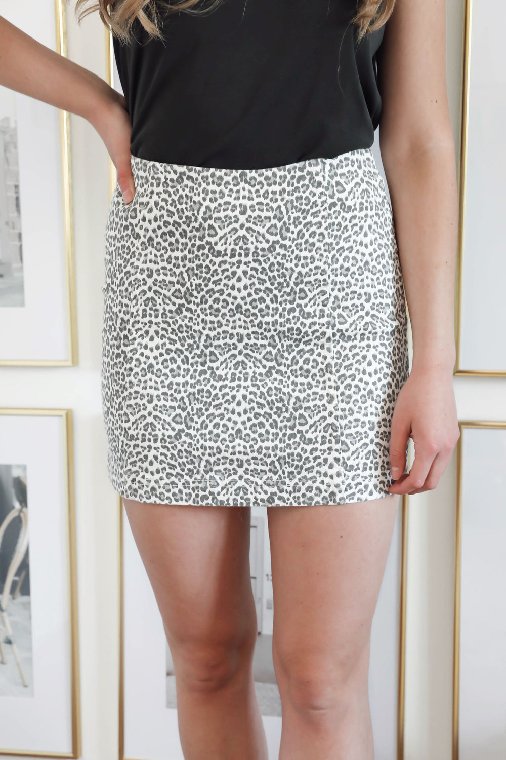 Life in Leopard Mini Skirt