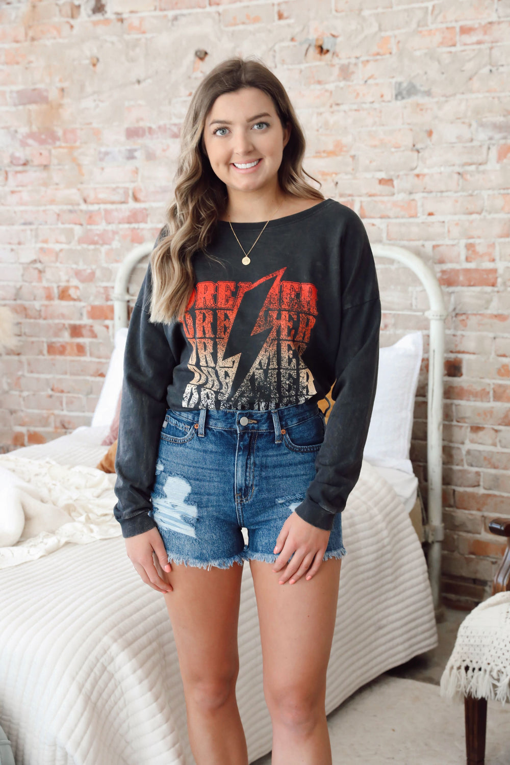 Lightning Bolt Dreamer Long Sleeve Band Tee