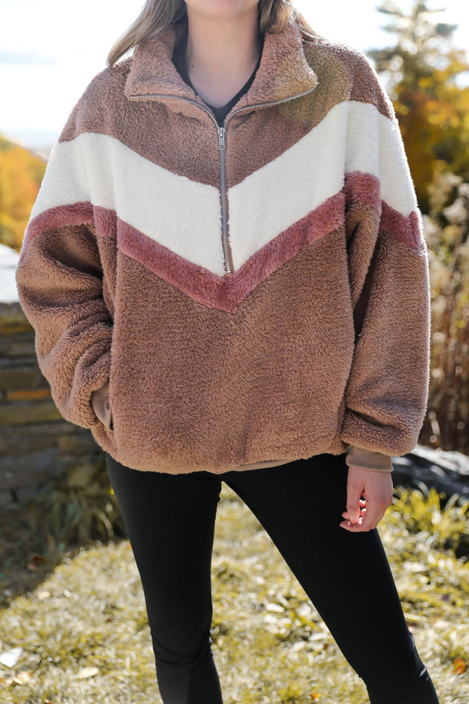 Meet Me at the Lodge Chevron Pullover