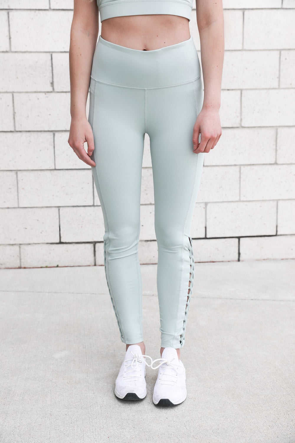 Mint to Be Criss Cross Leggings