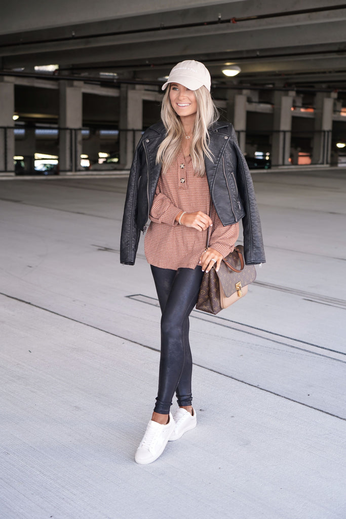 RESTOCK Mocha Button Down Inspired by Kristin Coffey Pressley